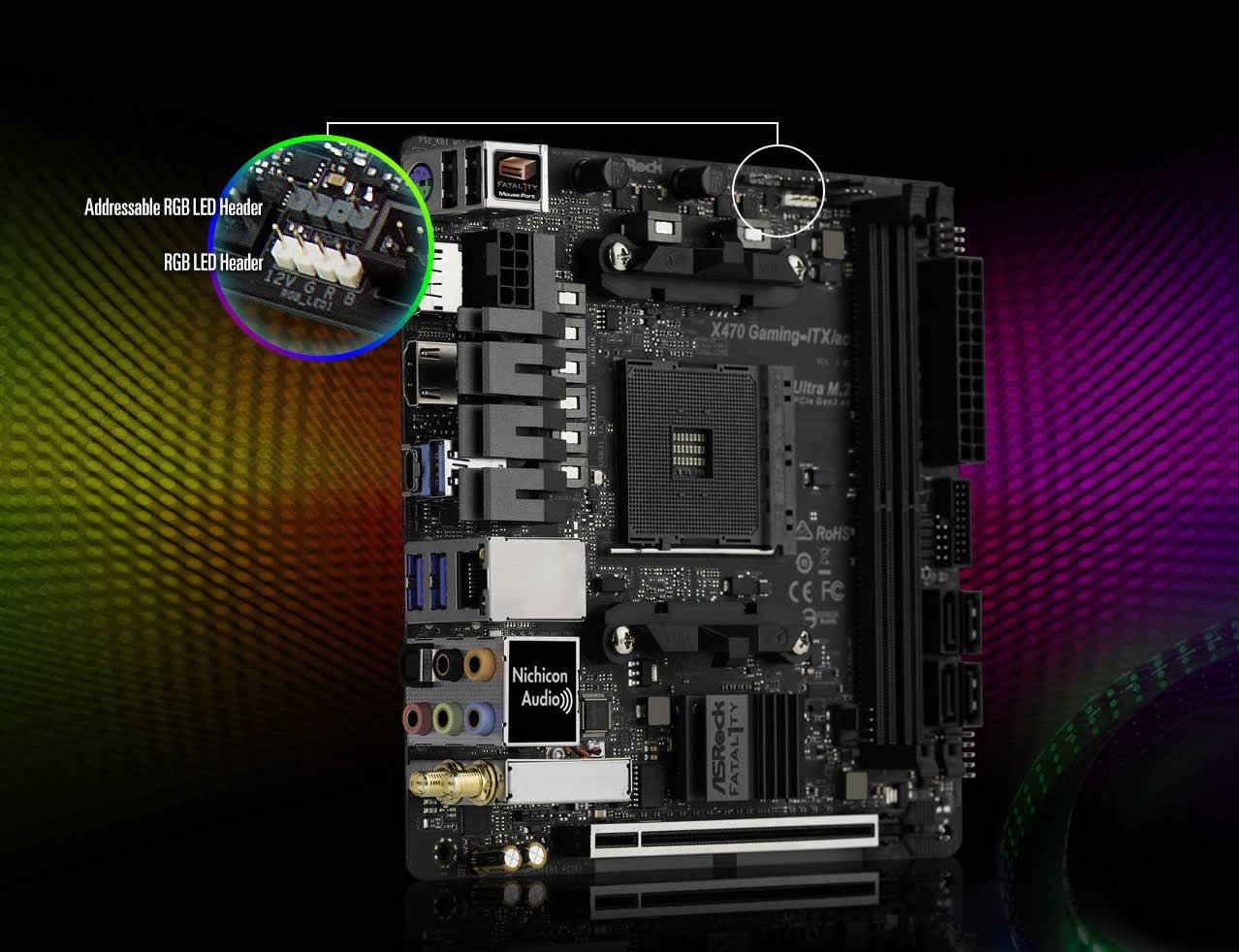 Asrock Fatal1ty X470 Gaming-ITX/ac AMD AM4 X470 Mini-ITX Motherboard