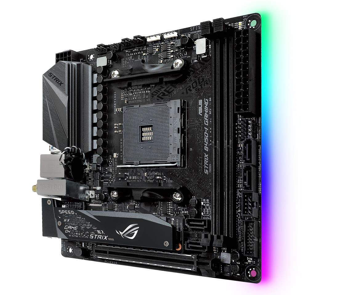 Asus ROG Strix B450-I Gaming AMD AM4 B450 Chipset Mini-ITX Motherboard