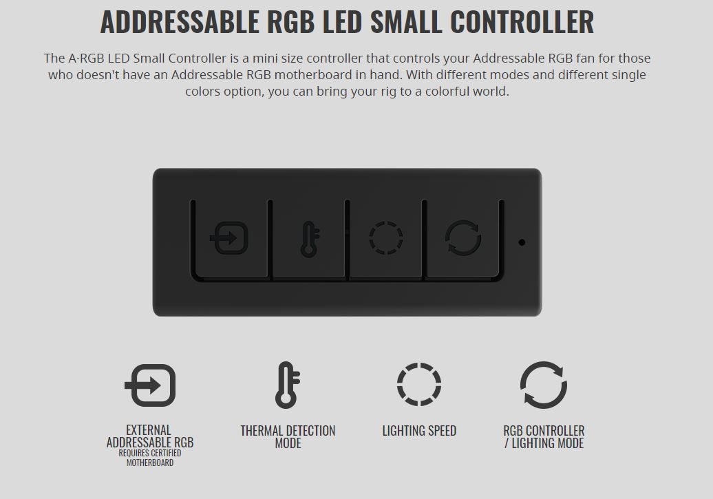 Cooler Master Master Accessories Small Addressable RGB Fan Controller