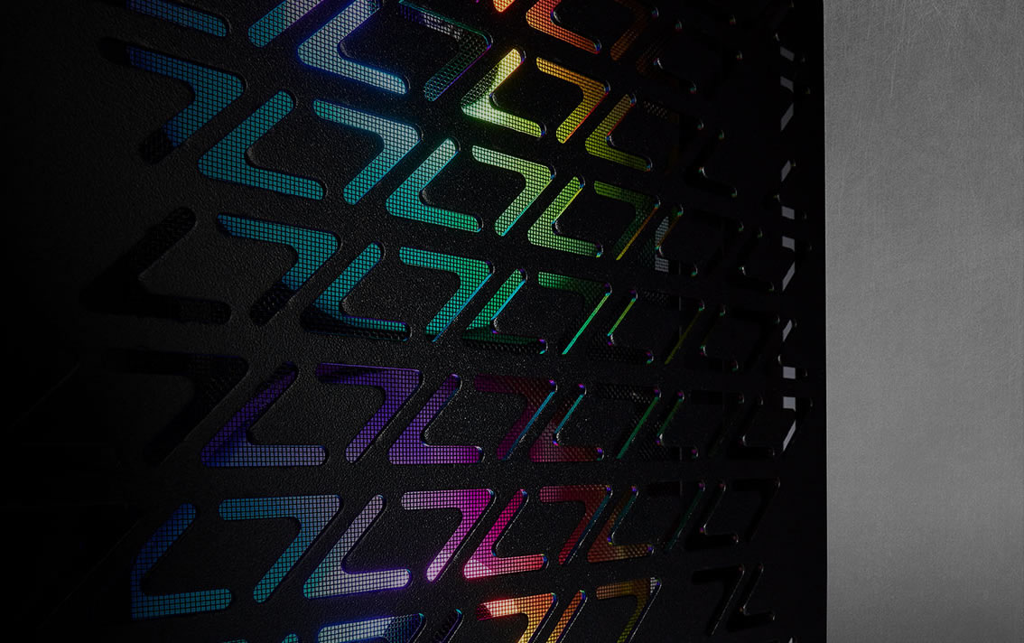 Corsair iCUE 220T RGB Airflow Tempered Glass Mid-Tower Smart Case - Black