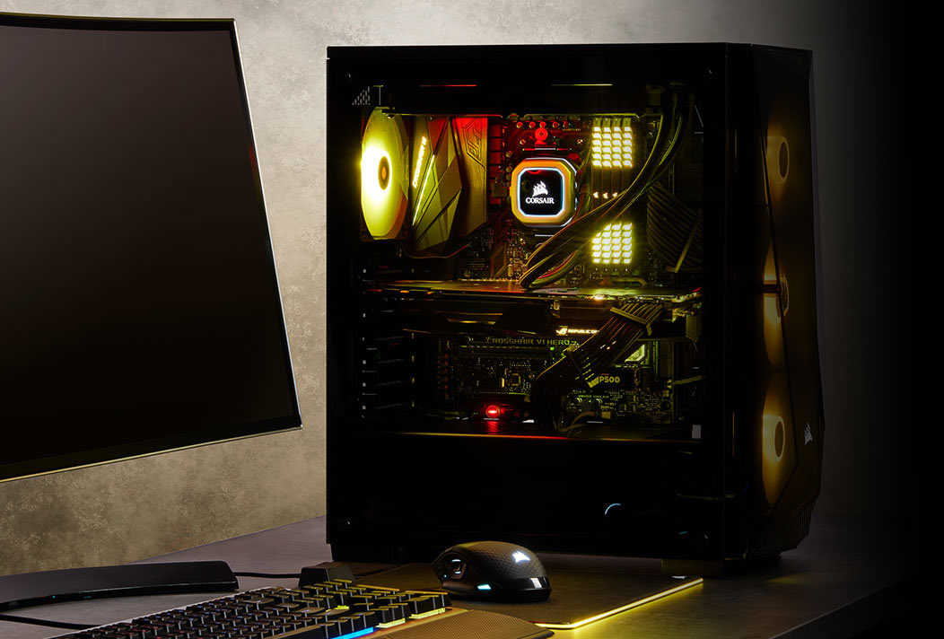 Corsair Carbide Spec Delta Rgb Glass Midi Black Pc Gaming