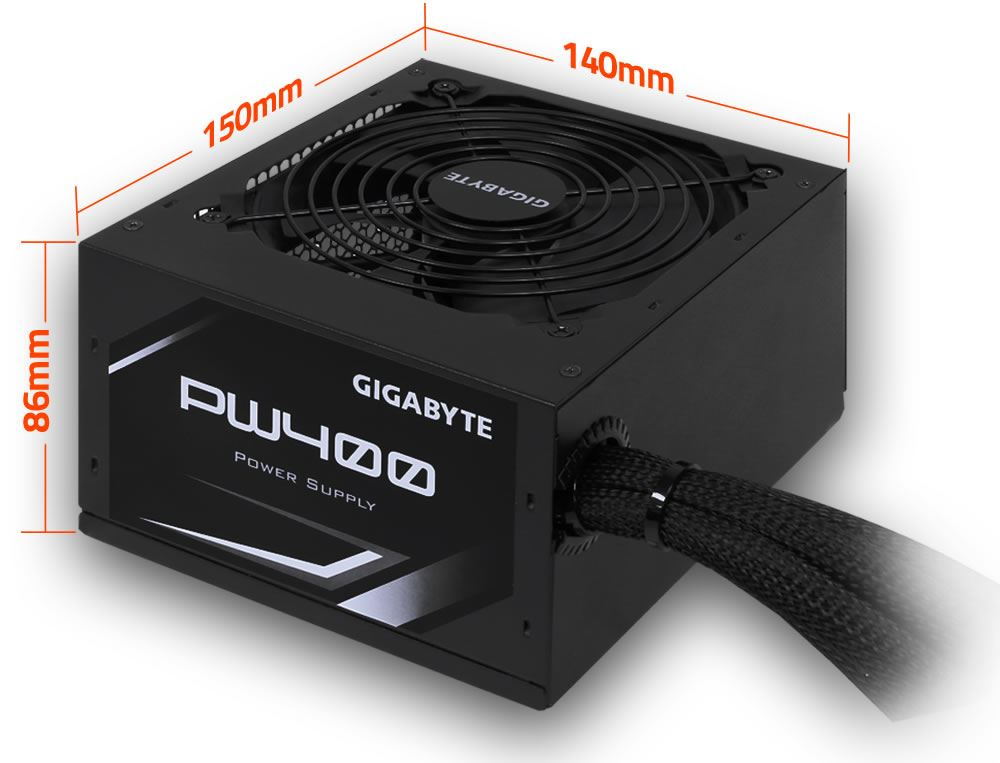 Gigabyte Pw400 400w 80 Plus White Non Modular Power Supply