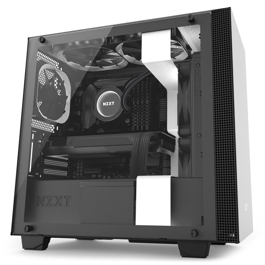 Nzxt H400i Matte White And Black Mid Tower Pc Case Novatech