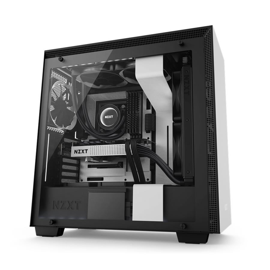 Nzxt H700i Matte White And Black Mid Tower Pc Case Novatech
